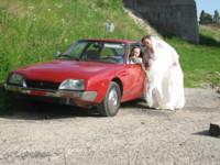 Highlight for album: Bryllupsbil: 79 modell CX 2000, Rouge Masena!?